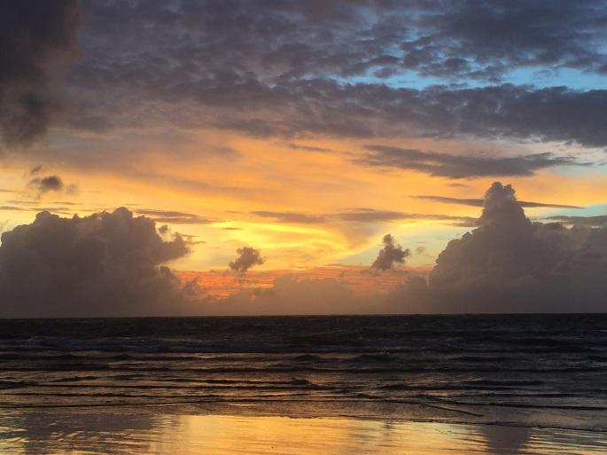 Kuta'da günbatımı
